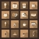 Coffee Flat Icons Set - GraphicRiver Item for Sale