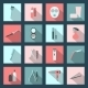 Beauty Salon Flat Icons Set - GraphicRiver Item for Sale