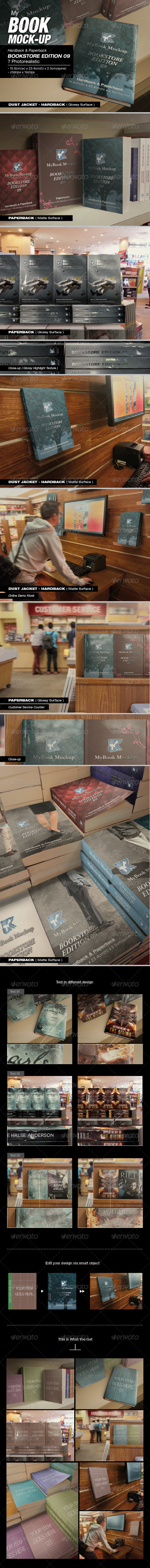GraphicRiver MyBook Mock-up Bookstore Edition 09 8422874