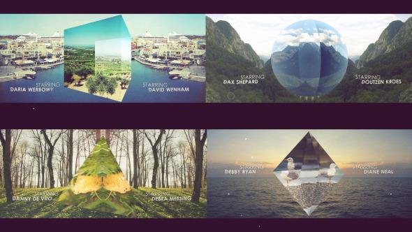 AE模板:创意三维立方体 美丽风景展示 照片相册视频 旅游节目频道包装模板 免费下载