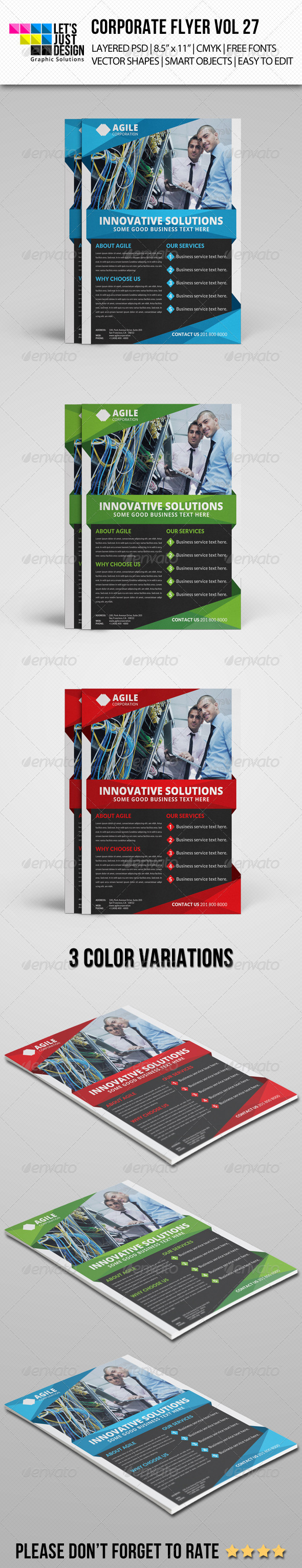 GraphicRiver Corporate Flyer Template Vol 27 8435950