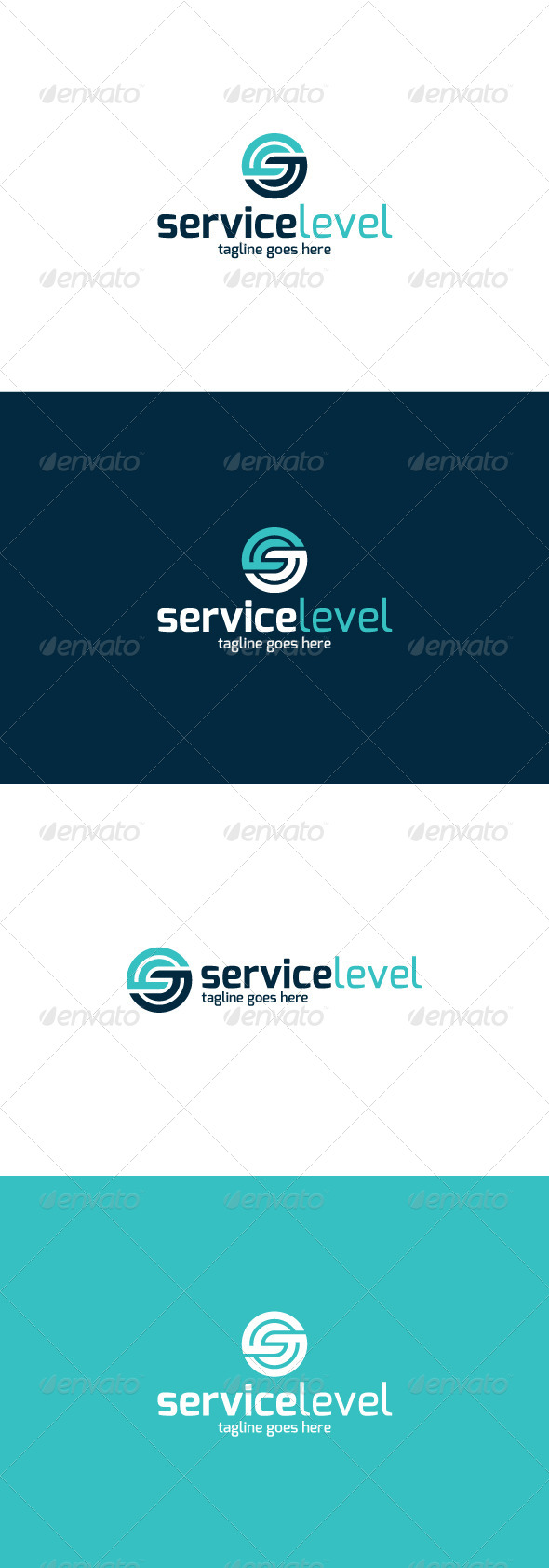 GraphicRiver Service Level Logo Letter S 8435996