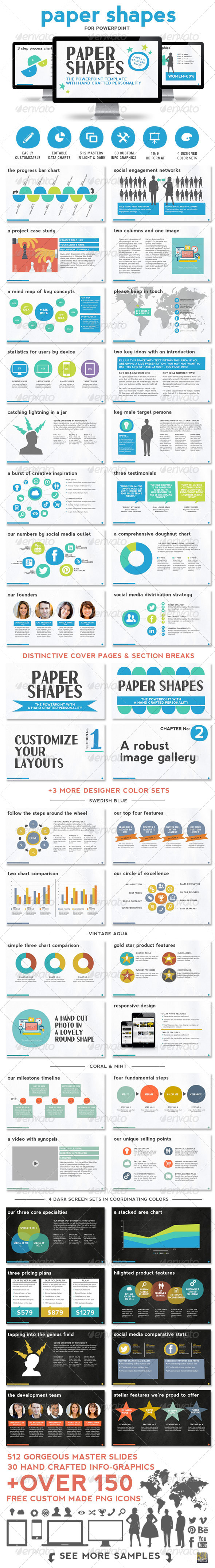 GraphicRiver Paper Shapes Powerpoint Presentation Templates 8436011