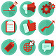 Vector Digital Marketing Icons in Flat Style - GraphicRiver Item for Sale