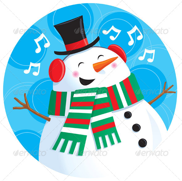 GraphicRiver Singing Snowman 8436031