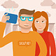Man and Woman Taking Picture - GraphicRiver Item for Sale