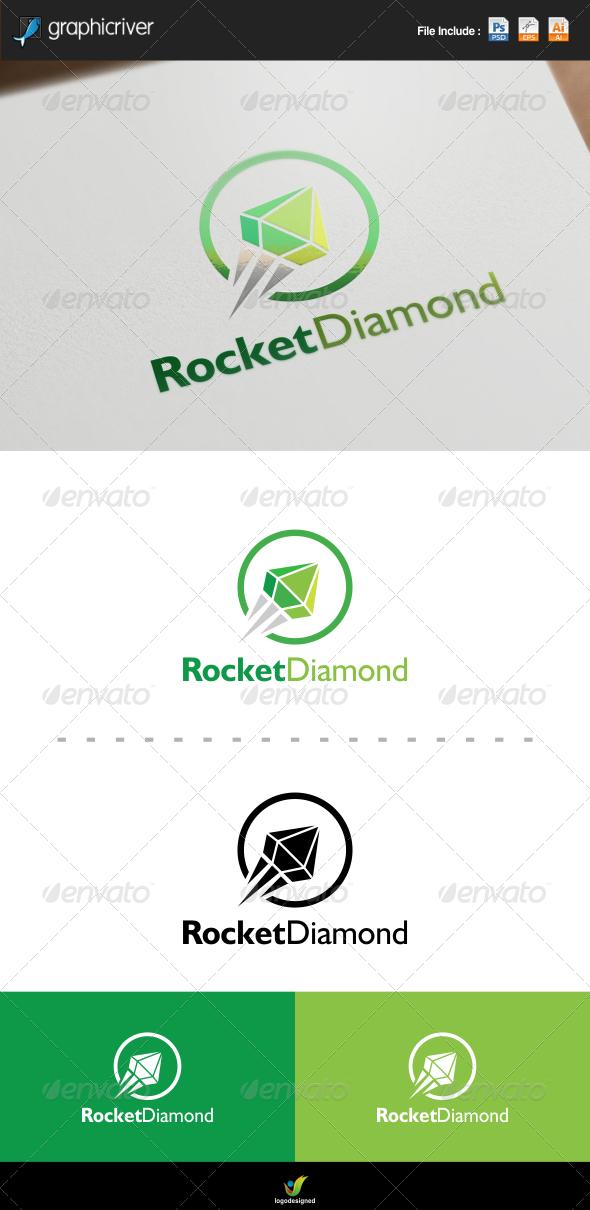 GraphicRiver Rocket Diamond Logo 8436055