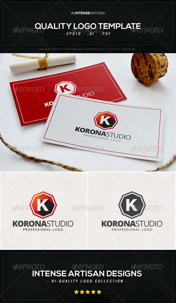 GraphicRiver Korona Studio Logo Template 8436108