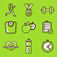 Set of Fitness Icons - GraphicRiver Item for Sale