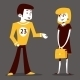 Athlete Guy and Student Girl Talking - GraphicRiver Item for Sale