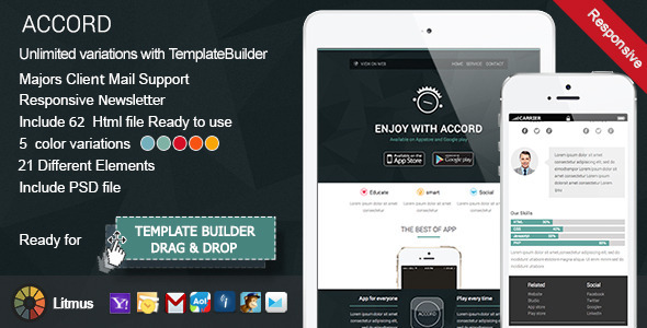 ThemeForest Accord Responsive Email & TemplateBuilder 8317503