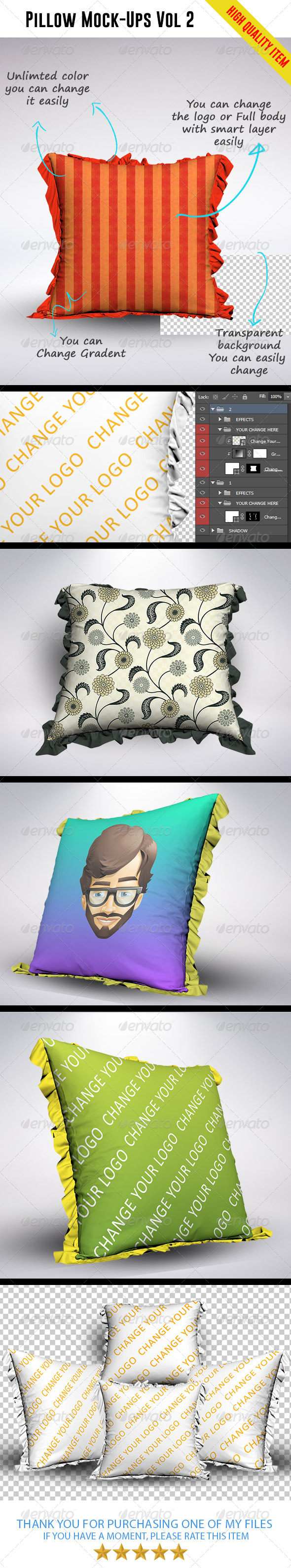 Pillow Mock-Ups Vol 2
