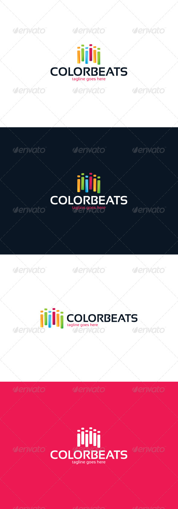 GraphicRiver Color Beats Logo 8436669