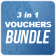 3 in 1 Voucher Cards [Bundle] - GraphicRiver Item for Sale
