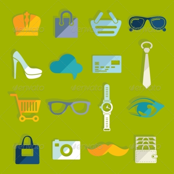 GraphicRiver Set of Fashion Icons 8436727