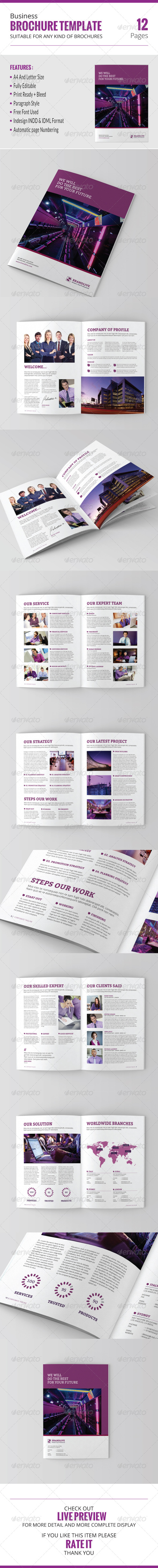 GraphicRiver Business Brochure Template 8436935