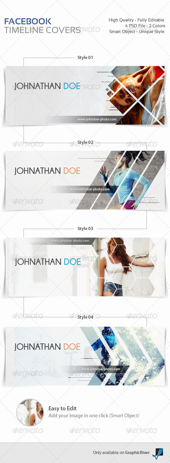 GraphicRiver 4 Facebook Timeline Covers 8436946