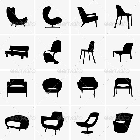 GraphicRiver Moden Armchairs 8436952