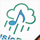 Music Rain Logo - GraphicRiver Item for Sale