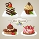 Sweets Cakes Dessert Set - GraphicRiver Item for Sale