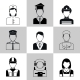 Professions Avatar Icons Black Set - GraphicRiver Item for Sale