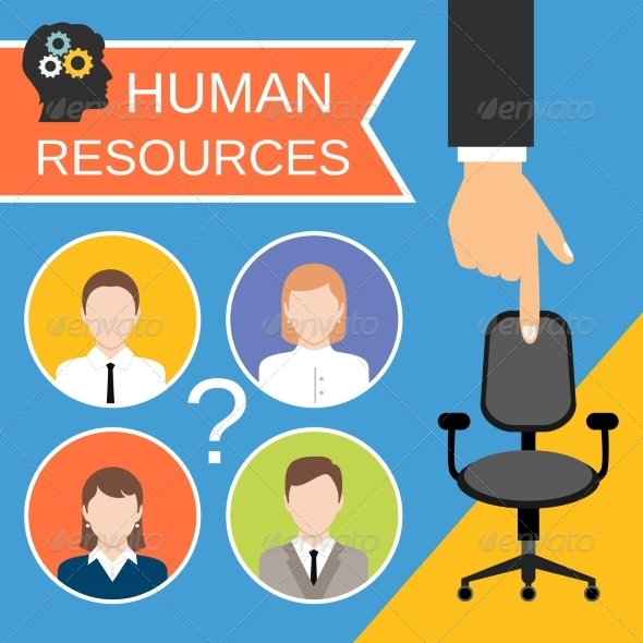 GraphicRiver Human Resources Concept 8436981