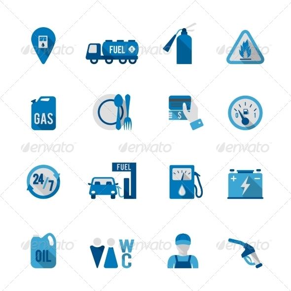 GraphicRiver Set of Fuel Station Icon 8436982