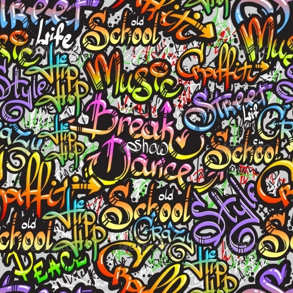 GraphicRiver Graffiti Word Seamless Pattern 8437004