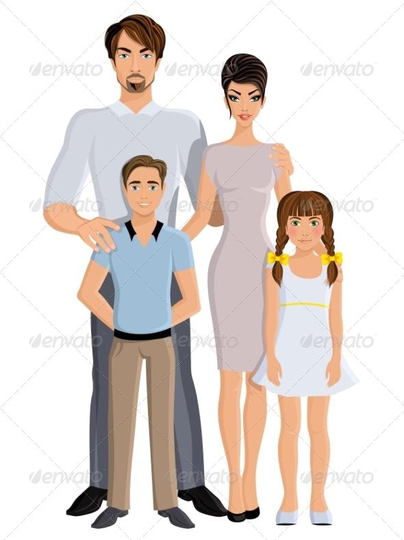 GraphicRiver Happy Family 8437034