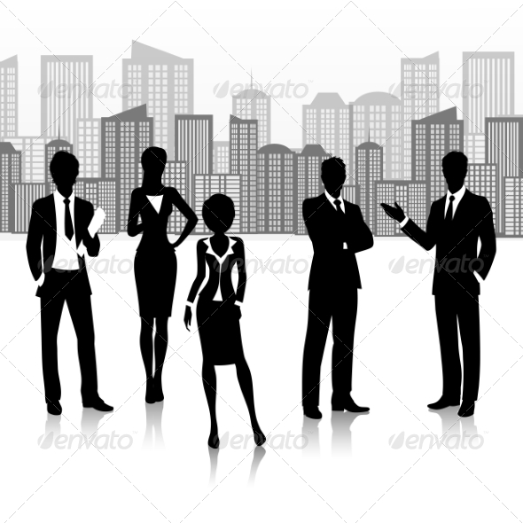GraphicRiver Business Group Silhouette 8437035