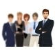 Businessman with Team - GraphicRiver Item for Sale
