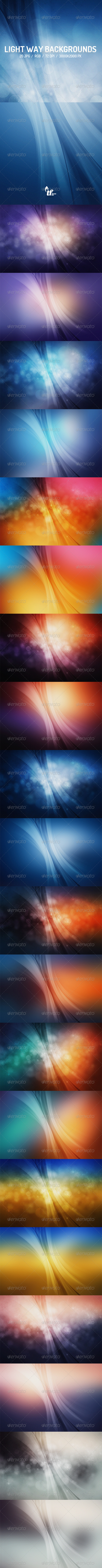 GraphicRiver Light Way Backgrounds 8437039