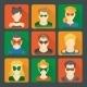 Set of Superheroes Stickers - GraphicRiver Item for Sale