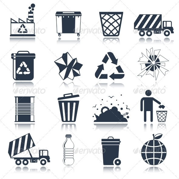 GraphicRiver Garbage Icons 8437043