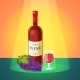 Wine with Grapes Poster - GraphicRiver Item for Sale