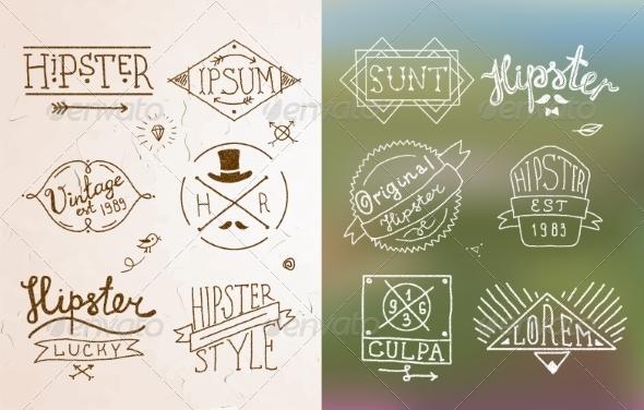 GraphicRiver Hipster Vintage Emblem 8437095