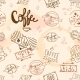 Seamless Vintage Retro Coffee  - GraphicRiver Item for Sale