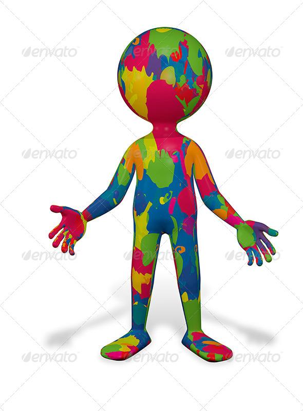 GraphicRiver Colorful Man 8435971