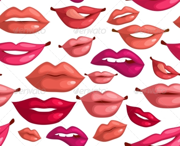 GraphicRiver Seamless Lips 8437109