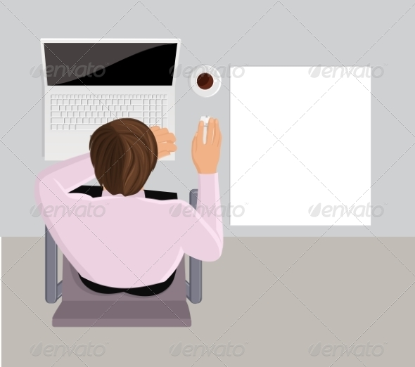 GraphicRiver Sleeping Office Worker 8437112