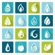 Set of Water Drops Icons - GraphicRiver Item for Sale