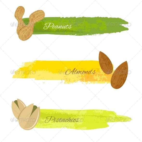 GraphicRiver Set of Nuts Banners 8437162