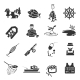 Set of Fishing Icons - GraphicRiver Item for Sale