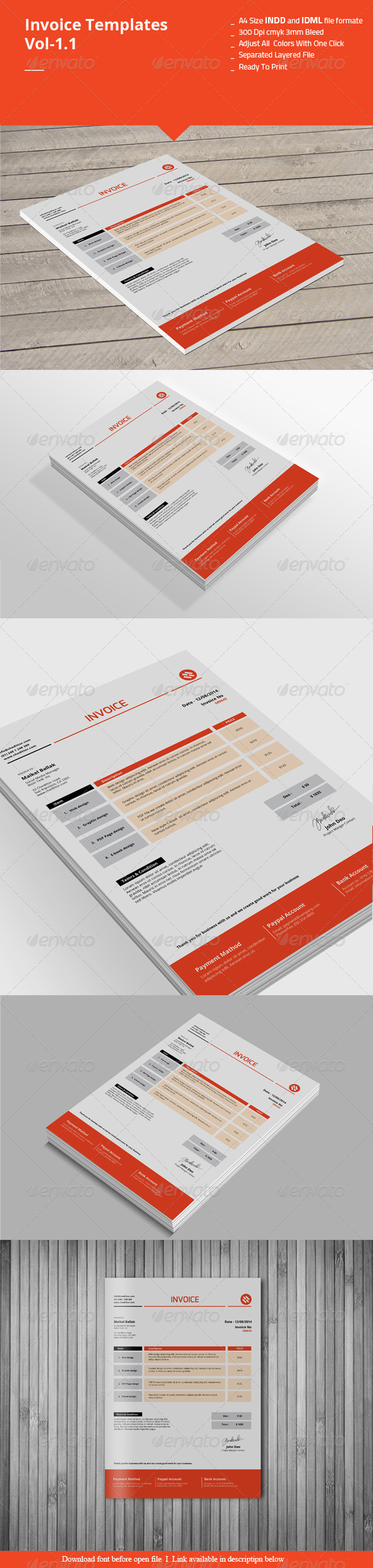 GraphicRiver Invoice Templates Vol-1.1 8437185