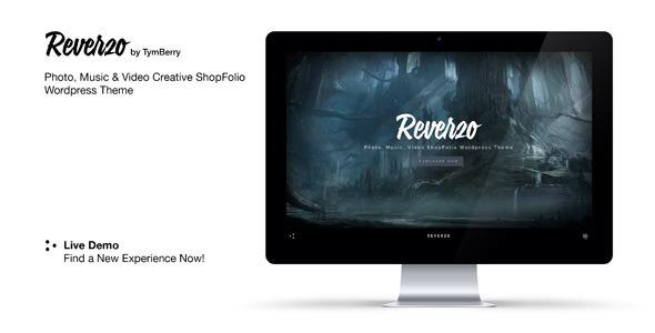 ThemeForest Reverzo Photo Music & Video Creative ShopFolio 8338479