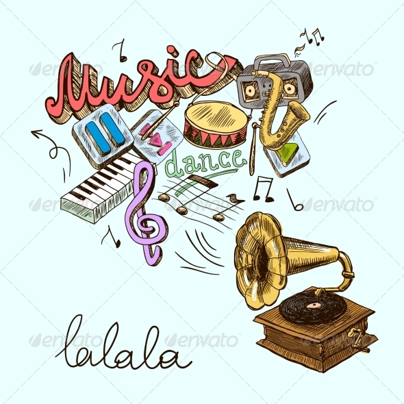GraphicRiver Gramophone Composition 8437293