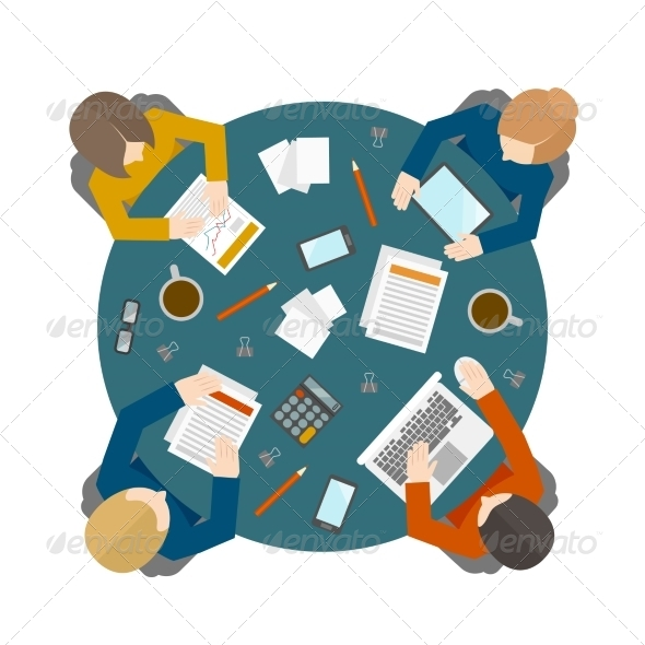 GraphicRiver Business Meeting in Top View 8437305