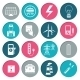 Electricity Power Icons Set - GraphicRiver Item for Sale