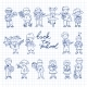 Set of Carton Doodle Kids - GraphicRiver Item for Sale