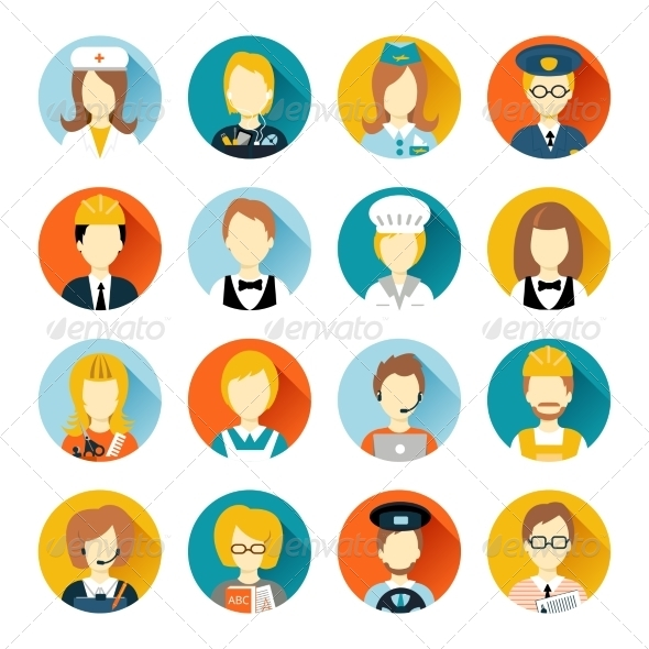 GraphicRiver Professional Avatar on Circles 8437639